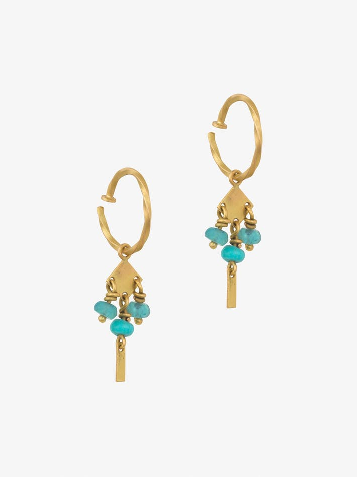 Persian mini hoops with turquoise photo 1