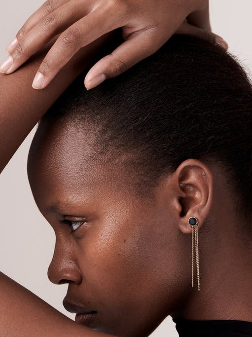 I taste earring with Mpingo diamond photo
