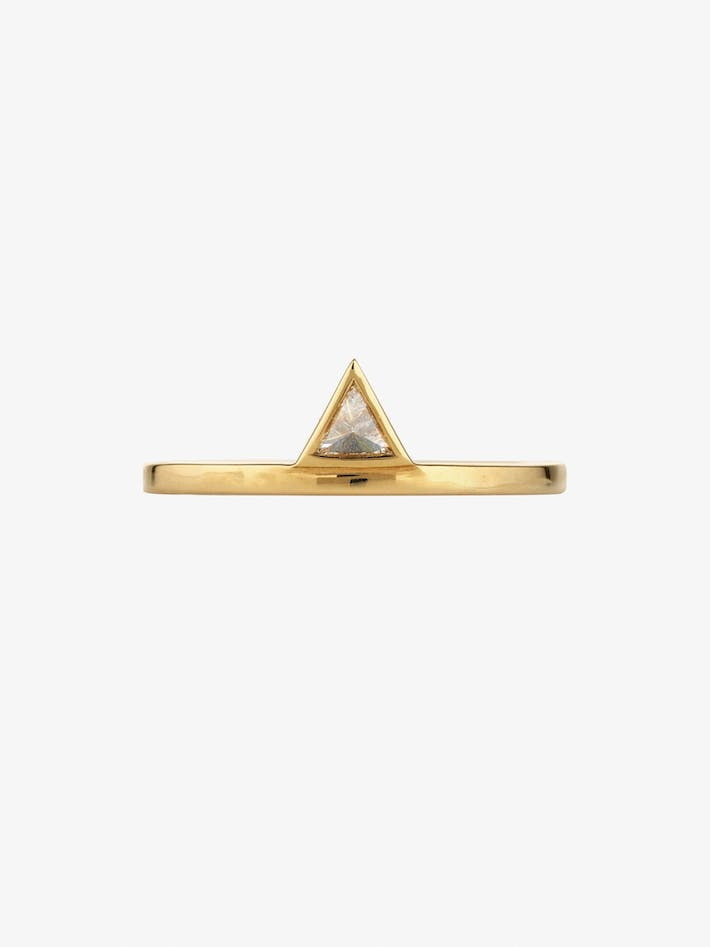 Triangle stacked ring photo 3