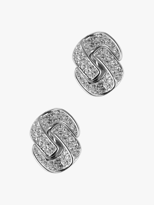 Dior silver crystal knot earrings photo