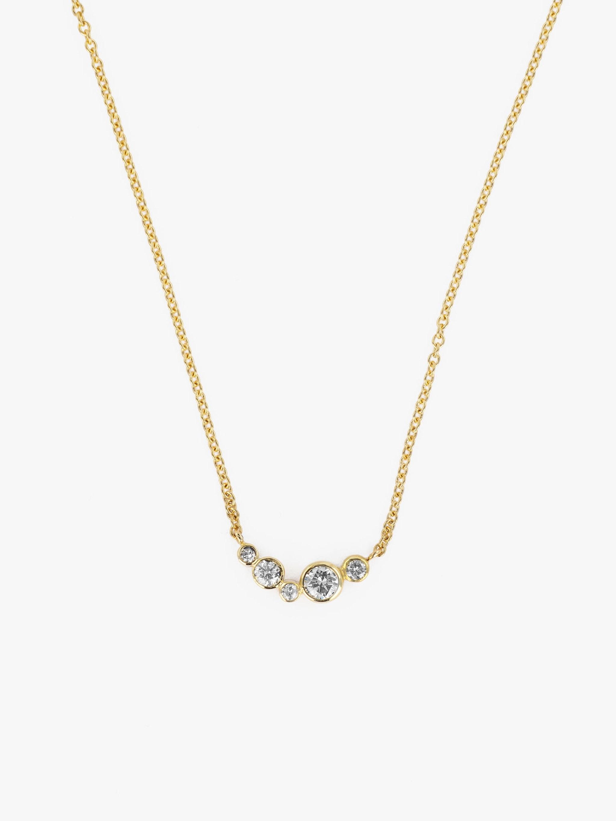 Small wave diamond necklace photo 3