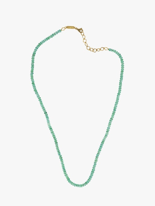 Small emerald bead necklace photo
