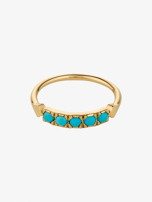 Turquoise dome ring photo
