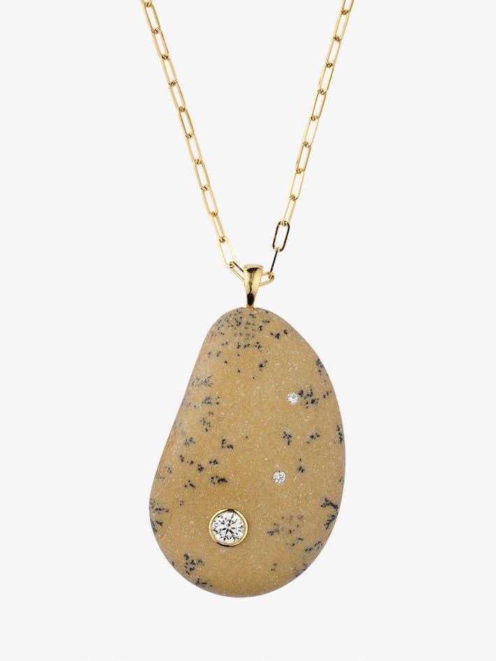 Fierce gold, stone and diamond necklace photo 3