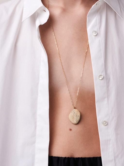 Surge gold, stone and diamond necklace photo