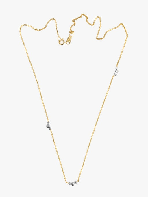 Scattered diamond necklace packshot