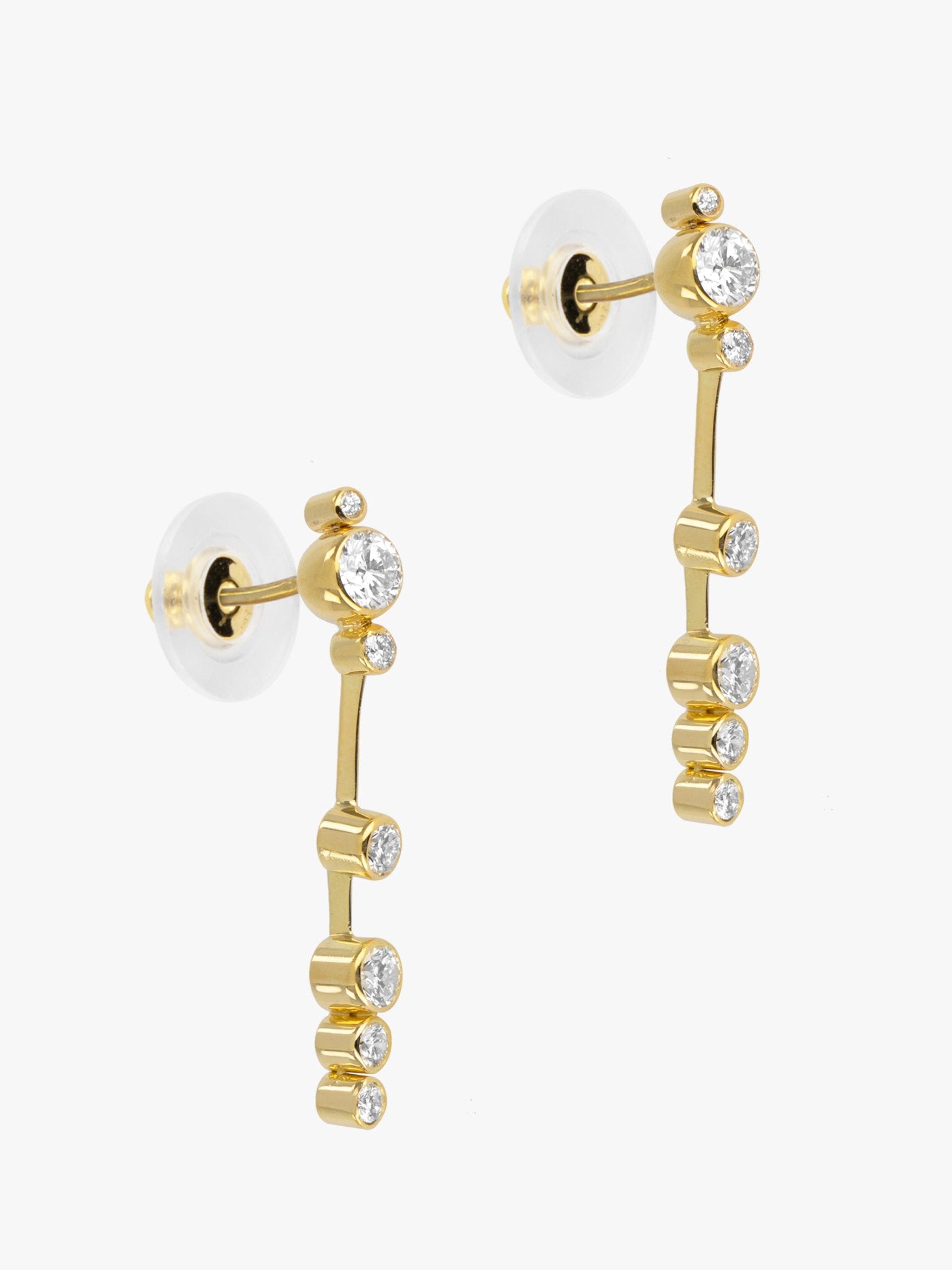 Floating diamond edge knife drop earrings photo 2