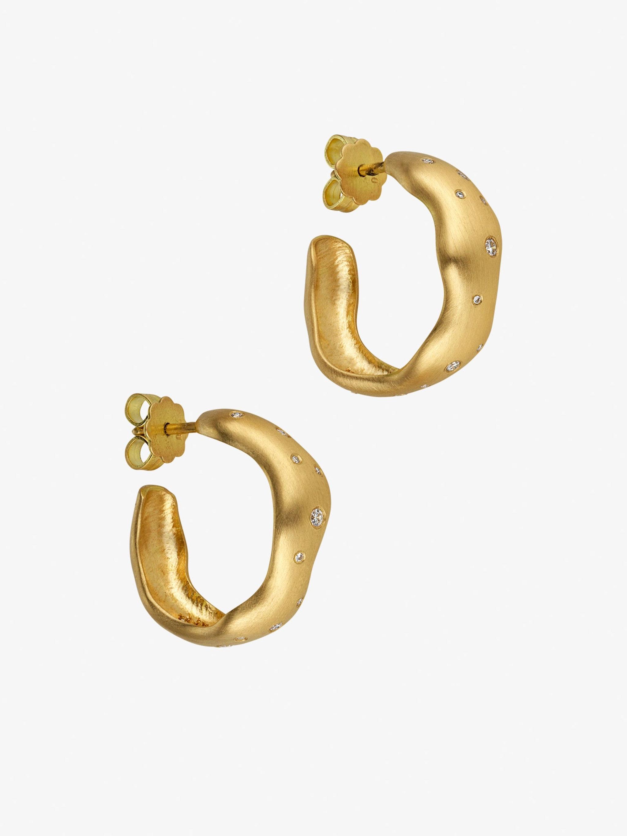 Nebula star-studded diamond hoop earrings photo 1