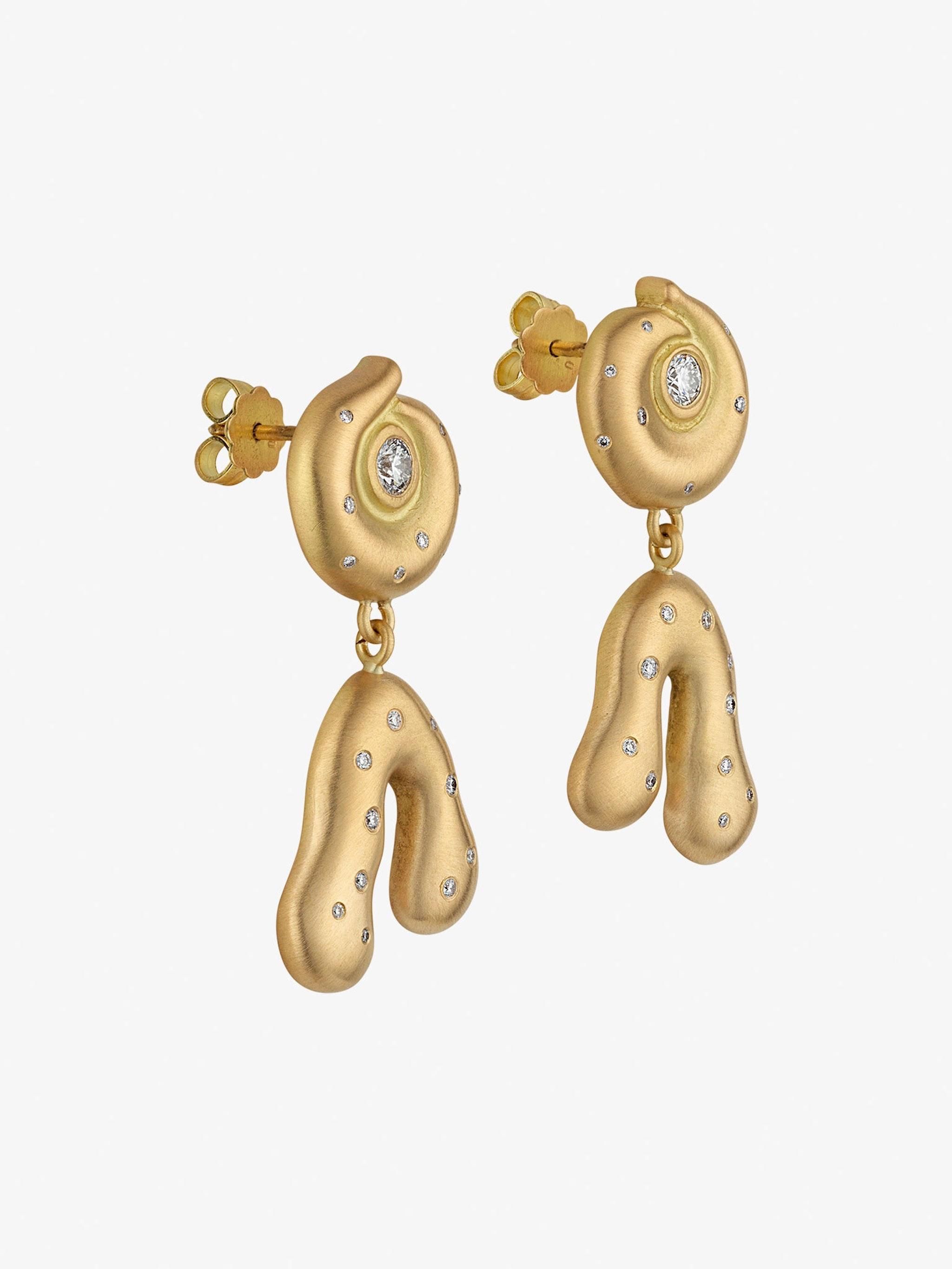 Helix diamond earrings photo 2