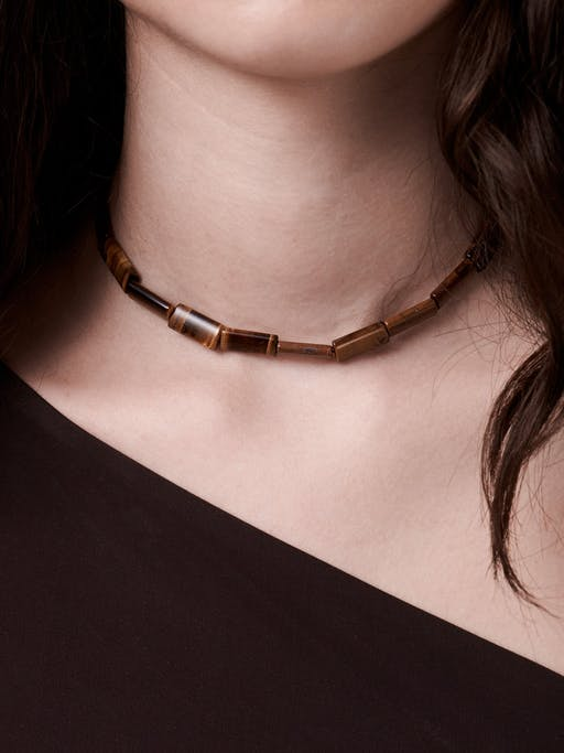 Tiger's eye bead necklace photo