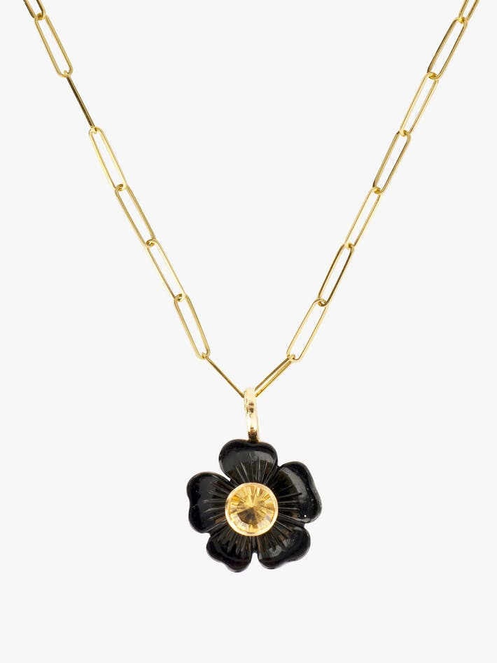 Small flower onyx necklace photo 1