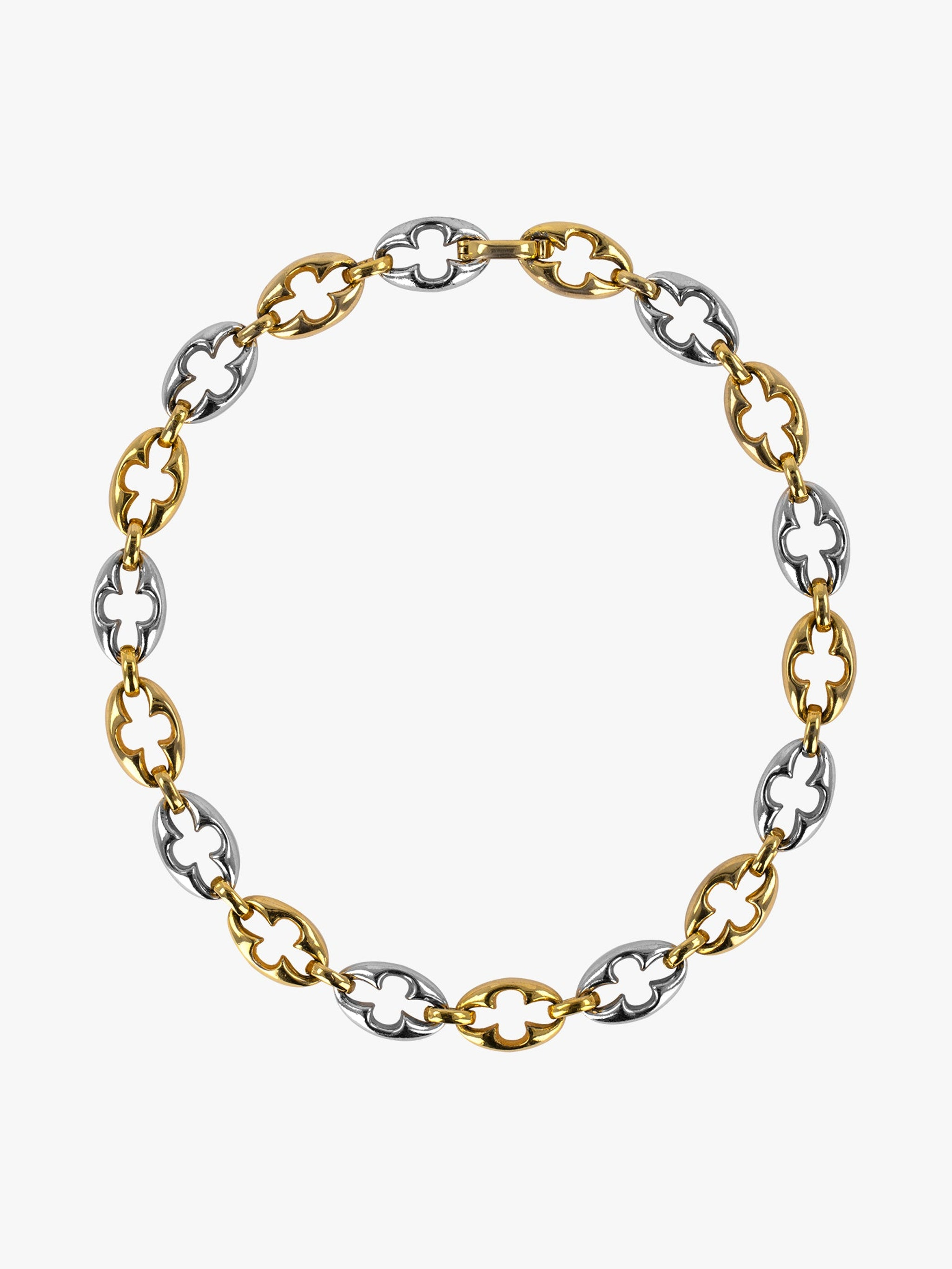 Dior gold and gunmetal links chain necklace photo 1