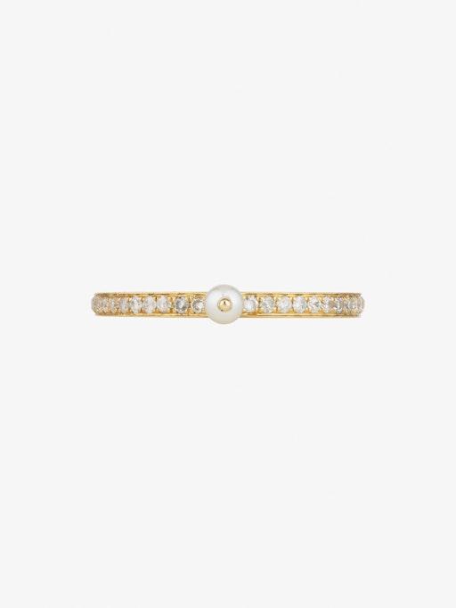 Perle rare pavé ring photo