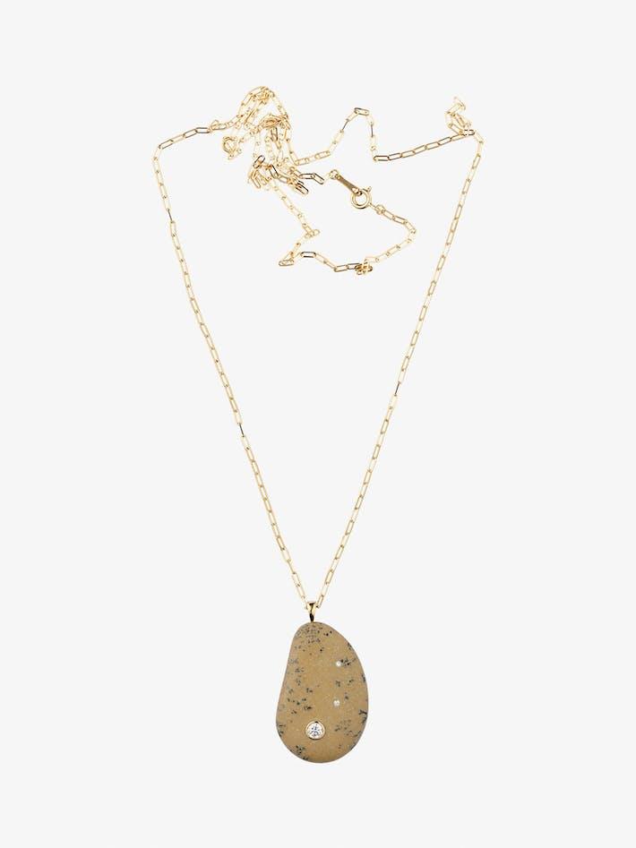 Fierce gold, stone and diamond necklace photo 1