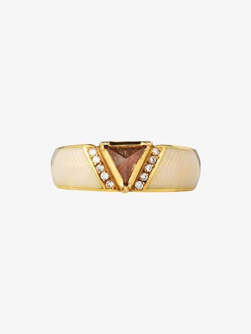 Rivera enamel princess diamond ring photo