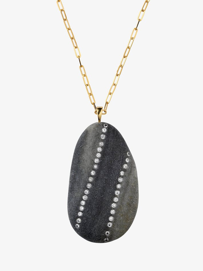 Loyal gold, stone and diamond necklace photo 3