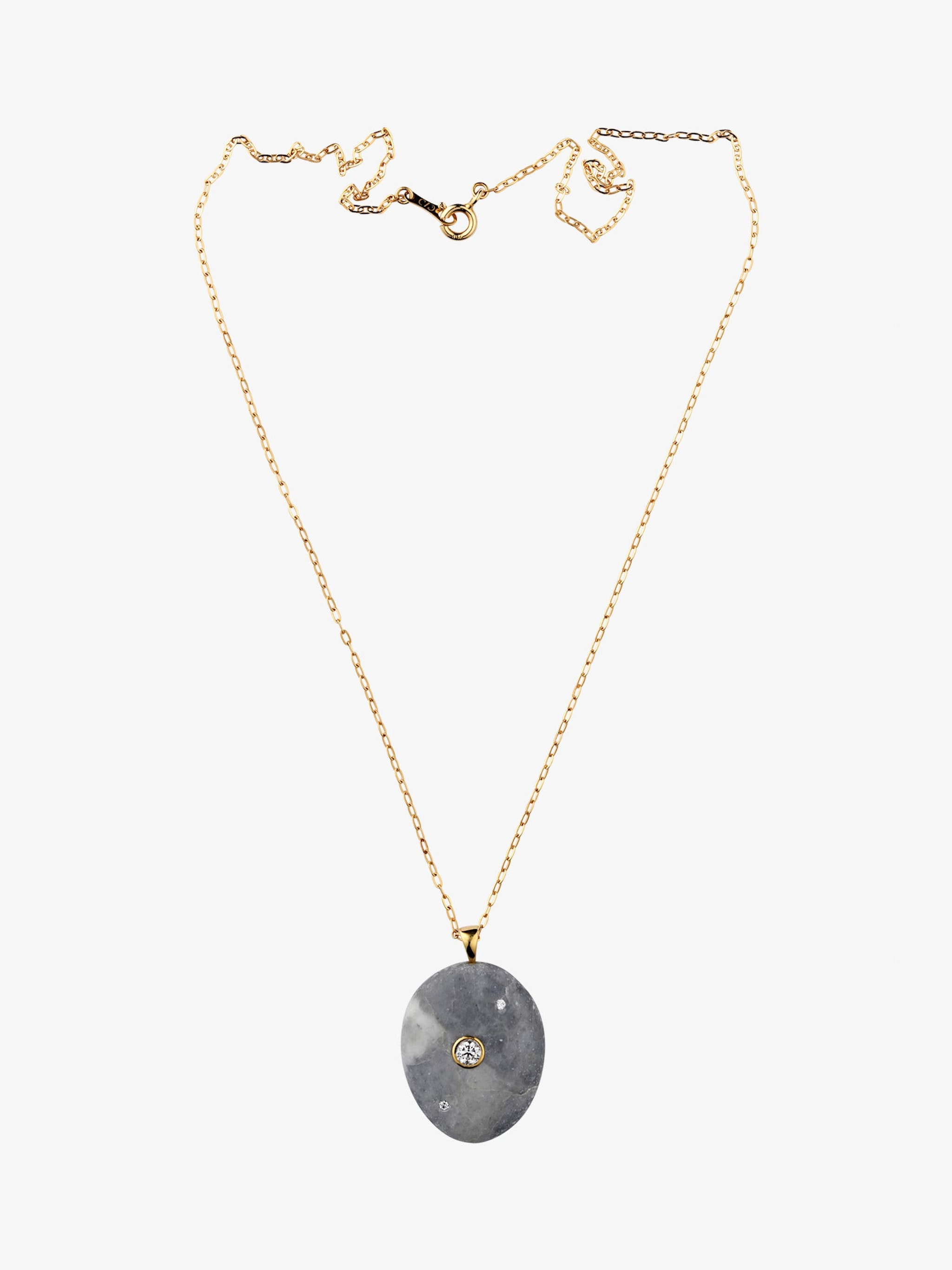 Billow gold, stone and diamond necklace photo 1