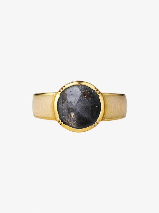 Enamel circle diamond slice ring packshot