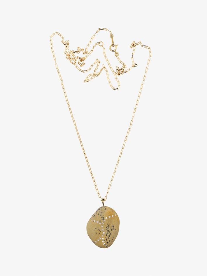 Surge gold, stone and diamond necklace photo 1