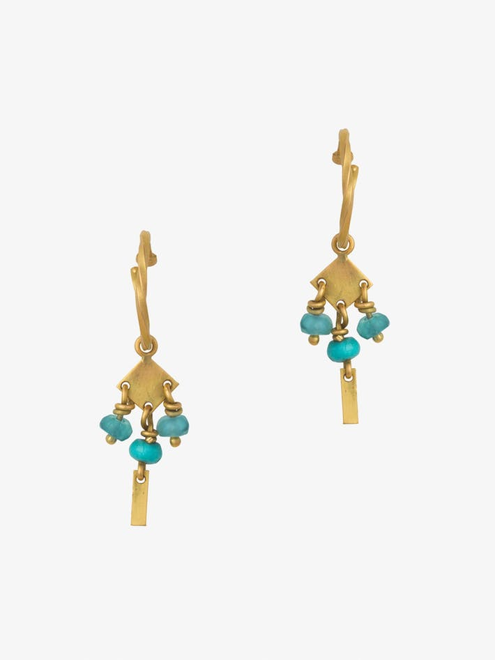 Persian mini hoops with turquoise photo 3