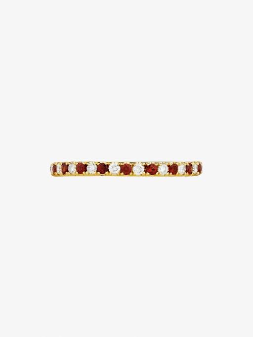Diamond and garnet eternity ring photo