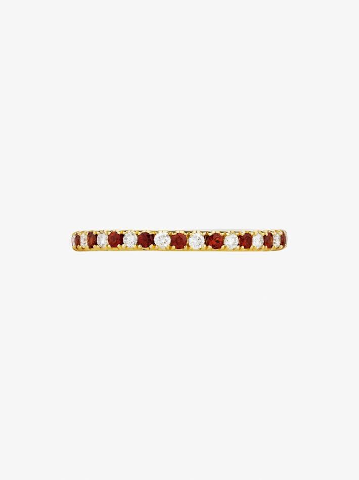 Diamond and garnet eternity ring photo 1