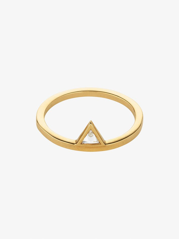 Triangle stacked ring photo 1