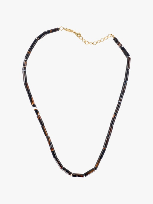 Black agate bead necklace photo