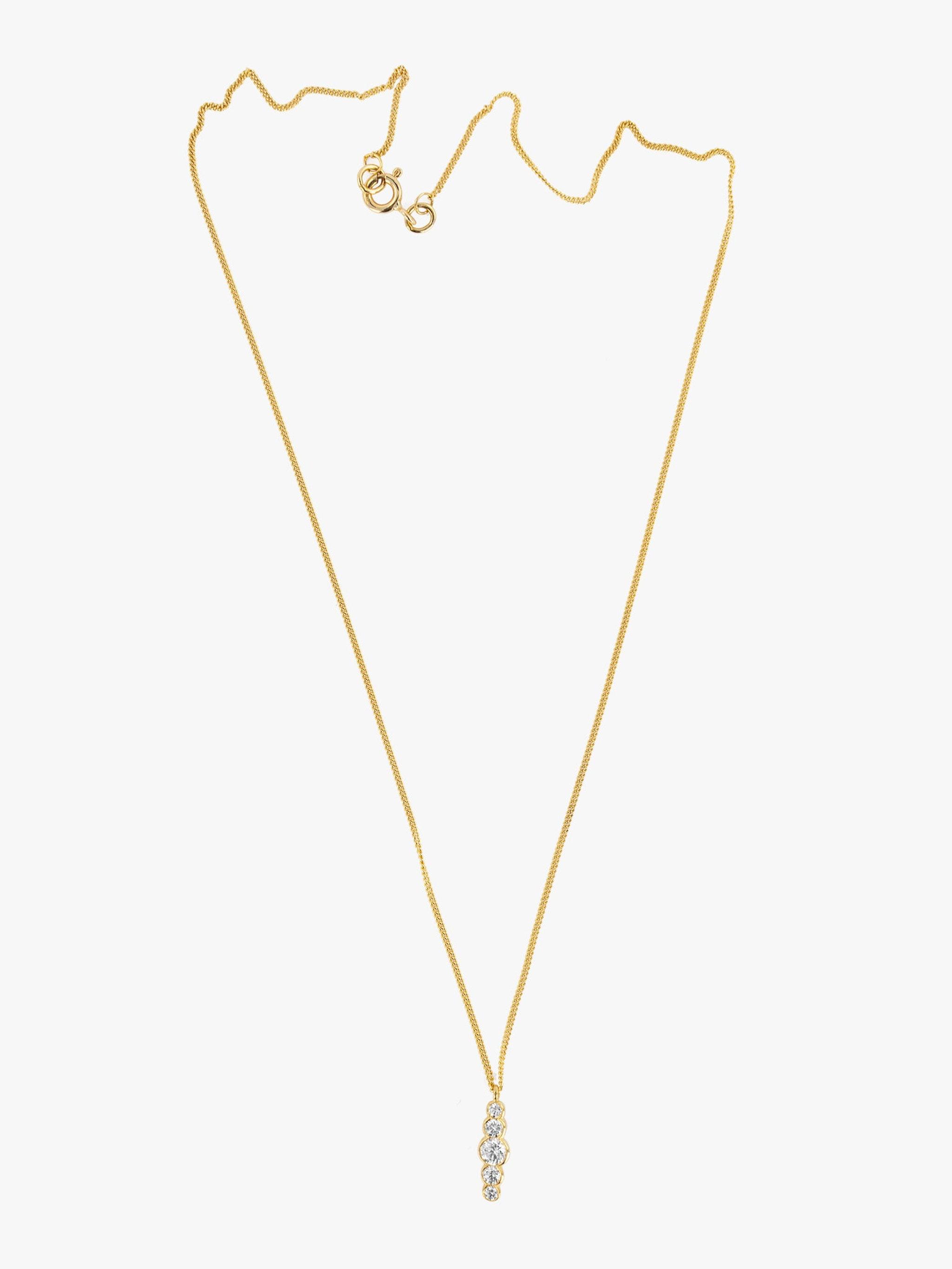Scallop diamond necklace photo 1
