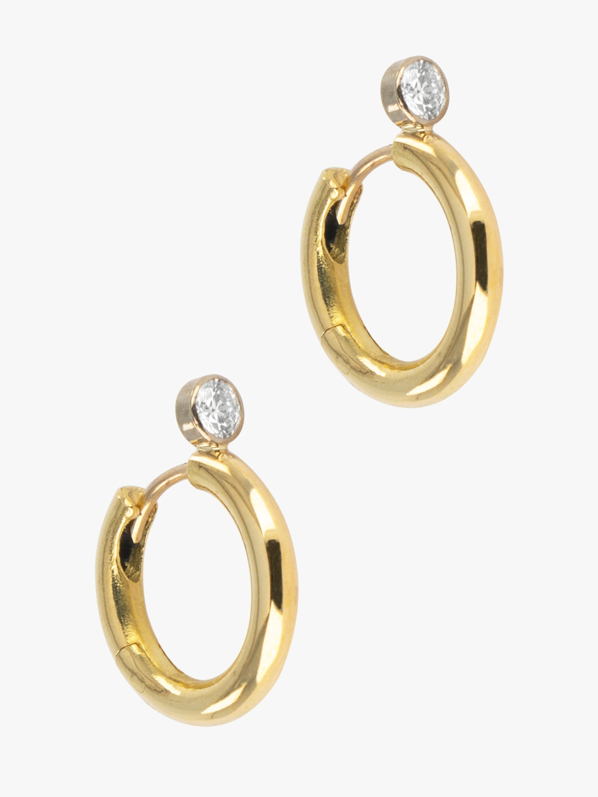 Diamond top hoops photo 2