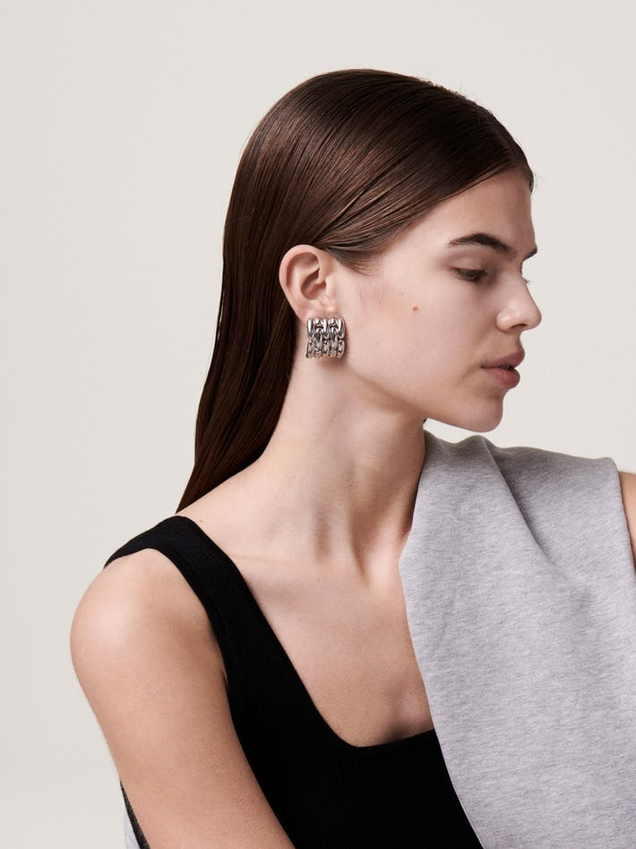 Givenchy watch chain earrings