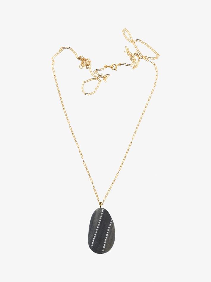 Loyal gold, stone and diamond necklace photo 1