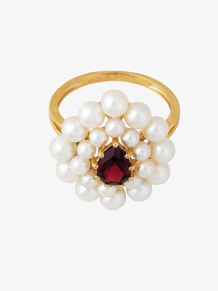 Cotillon pearl and garnet ring photo 3