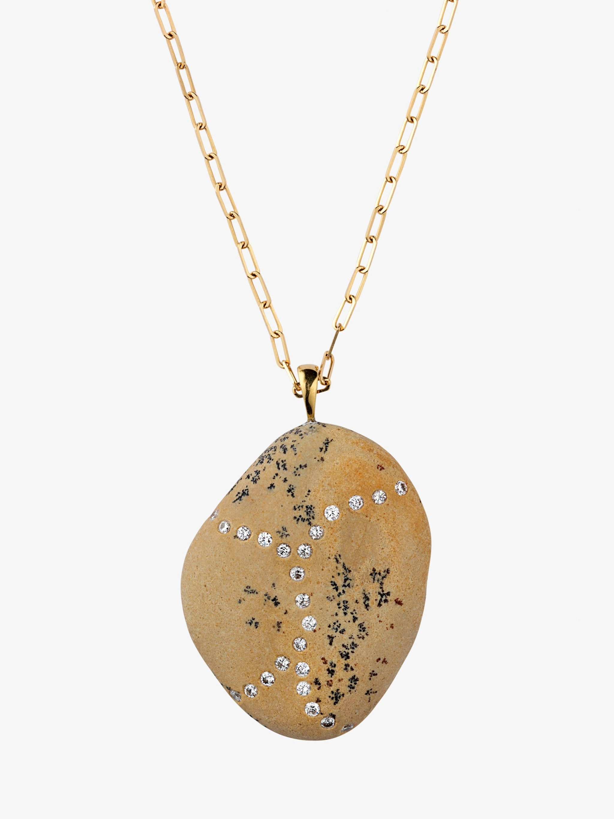 Surge gold, stone and diamond necklace photo 3