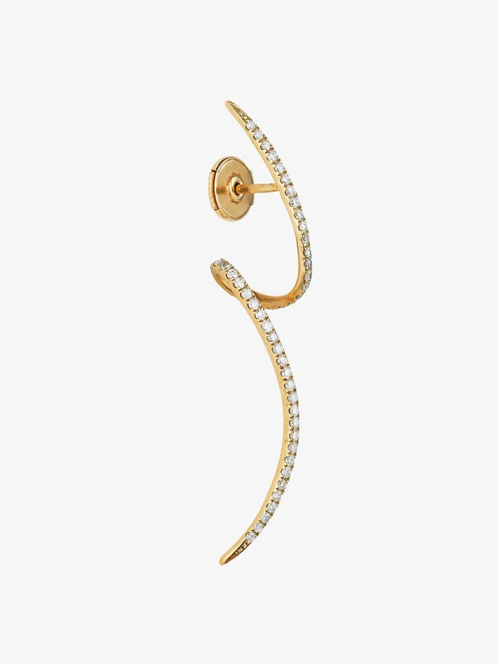 Tourbillon pavé diamond earring photo 1