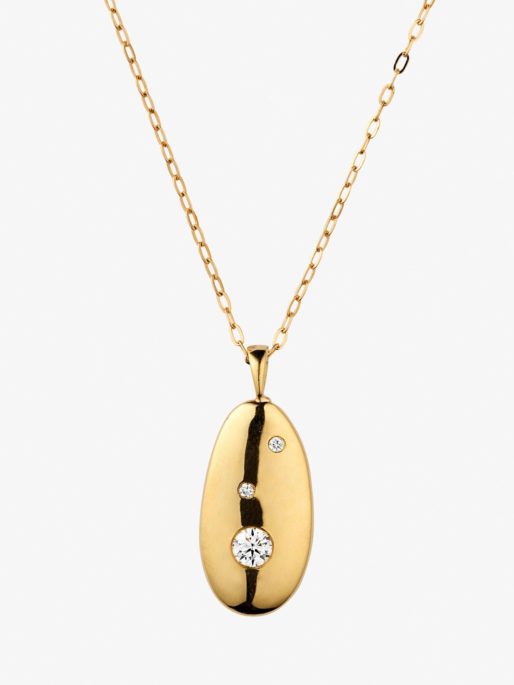 V1 gold and diamond necklace photo 3