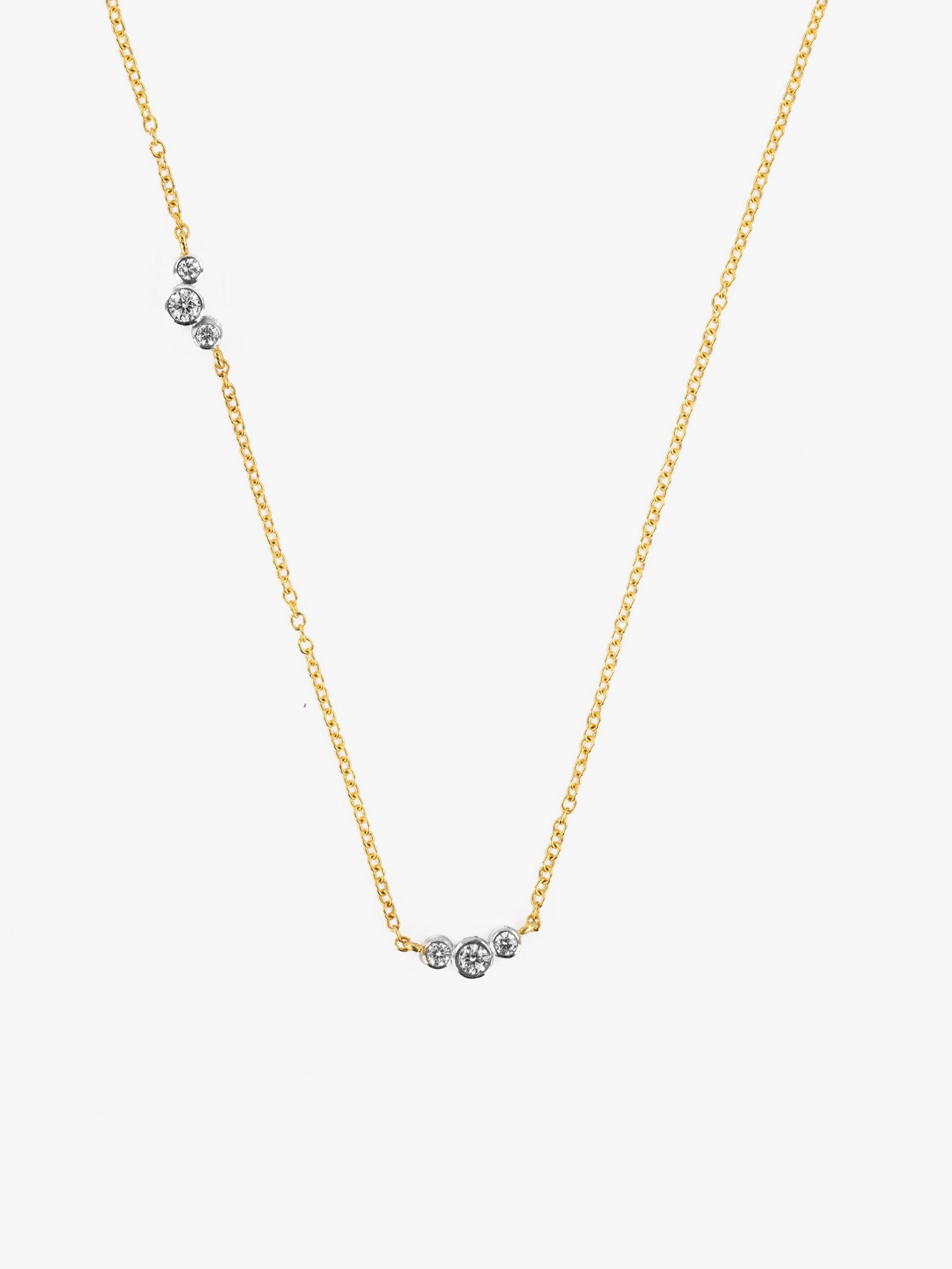 Scattered diamond necklace photo 3