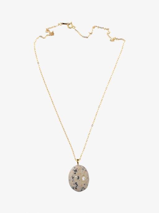 Sale e pepe gold, stone and diamond necklace photo
