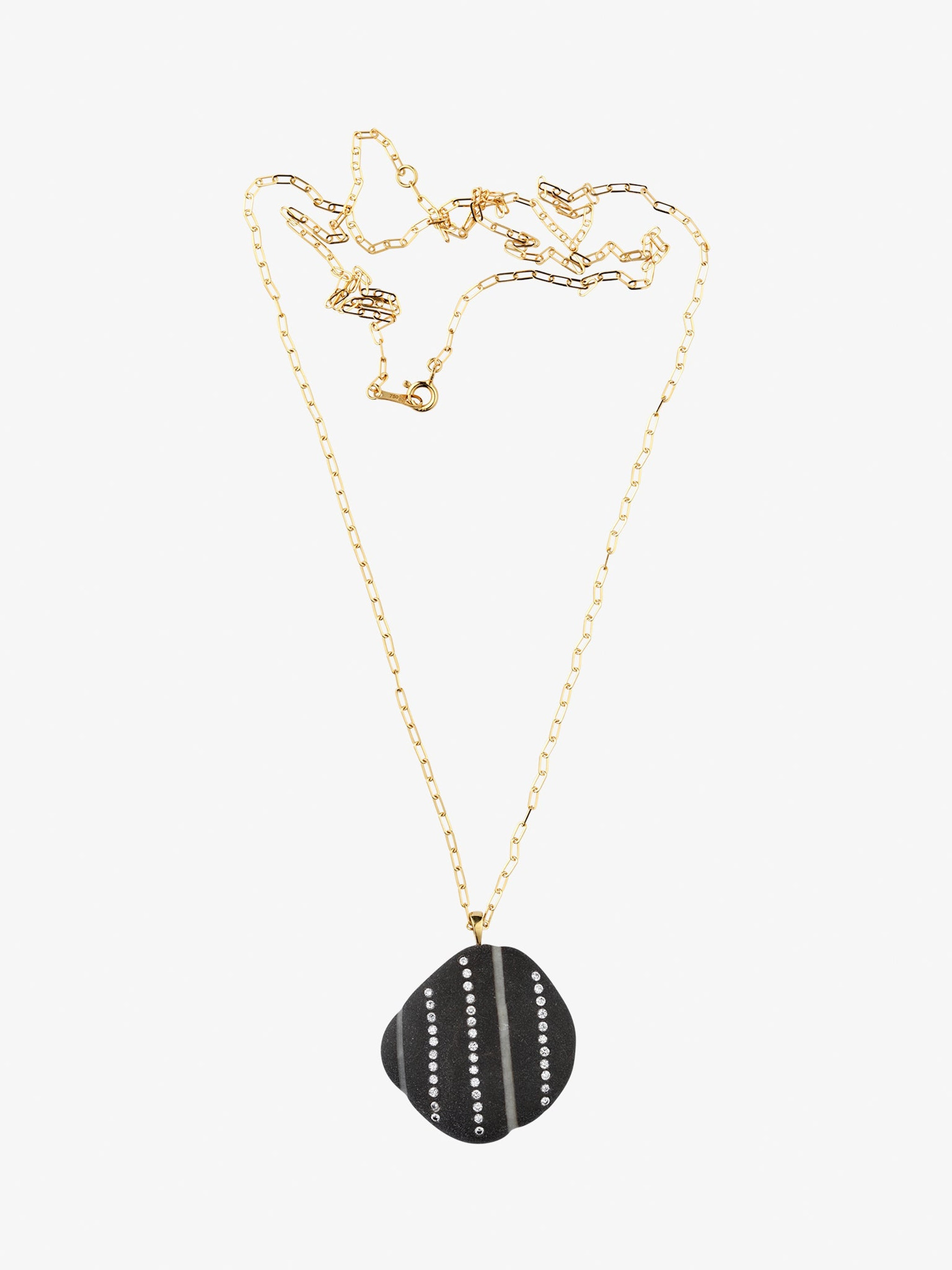 Reach gold, stone and diamond necklace photo 1