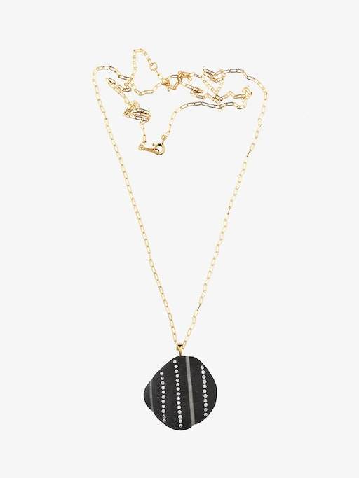 Reach gold, stone and diamond necklace photo