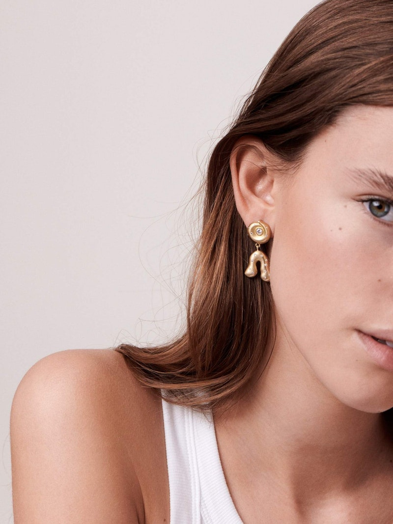 Jo Riis-Hansen earrings with diamonds from Nebula collection